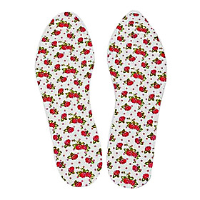 Women's Embroidered Sweat-Resistant Shoe Pads Able to Be Trimmed(1 Pair)