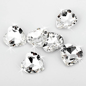Shining Heart Shaped Crystal Diamond Confetti (Set of 20 Pieces)