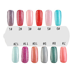 UV Color Gel Cute Nail Art Nail Polish (15ml,12 Bottle)