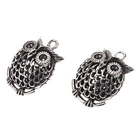 Antique Coppery Owl Shape Pendant (Contain 2 Pics)