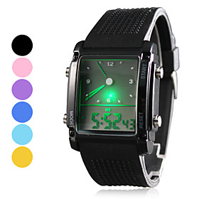 Men's Silicone LED Analog - Digital Wrist Watch (Assorted Colors)