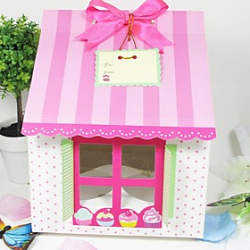 Cute House Shaped Cake Box (Set of 12)