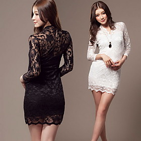 Women's Slim Bodycon Lace Dress
