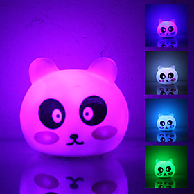 Cute Panda Shaped Colorful Light LED Night Lamp (3xLR44)