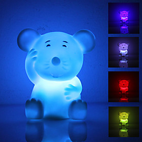 Cute Mouse Shaped Colorful Light LED Night Lamp (3xLR44)