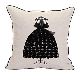 Fashional Dress Embroidery Decorative Pillow Cover