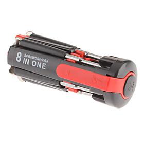 8-in-1 Mini Multi-Screwdriver with Powerful Torch