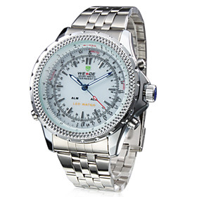 Analog - Digital Dual Display White Dial Wrist Watch WH-904