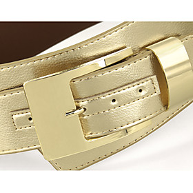 Women's PU Leather Pin Buckle Waist Belt(100 10 0.2CM)