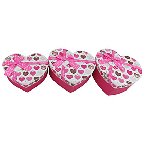 Pink Heart Shaped Gift Box With Ribbon Bow