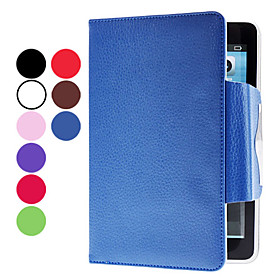 Lichee Pattern PU Leather Case with Stand Card Slot for iPad Mini (Assorted Colors)