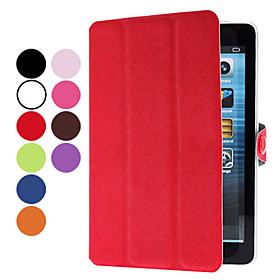 PU Leather Case with Stand for iPad Mini (Assorted Colors)