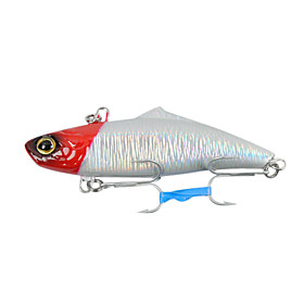 Hard Bait Vibration Plastic Fishing Lure 75mm 19g (Color Random)