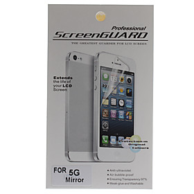 Protective Mirror Screen Protector with Cleaning Cloth for iPhone 5