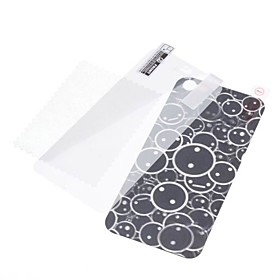 3D Effect Bubble Pattern Back and Front Protector Sticker for iPhone 5