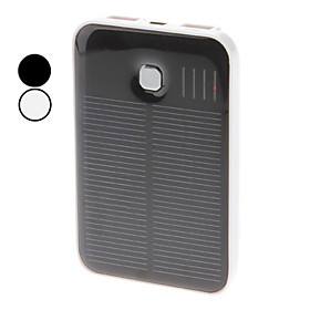 Solar Energy Power Supply for iPad, iPhone and More (Assorted Colors, 5000 mAh)