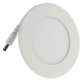6W 390-490LM 6500K Natural White Light Round LED Ceiling Bulb (85-265V)