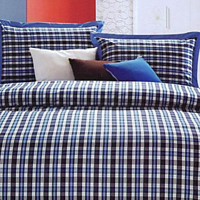 Sofia Plaid Twin / Queen / King 3-Piece Duvet Cover Set