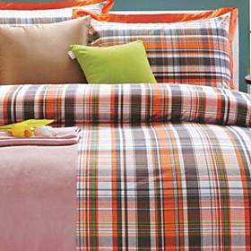 Bern Plaid Twin / Queen / King 3-Piece Duvet Cover Set