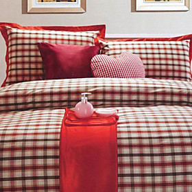 Bratislava Plaid Twin / Queen / King 3-Piece Duvet Cover Set