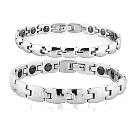 Fashionable Stainless Steel Couple's Bracelet