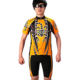 100%Ployester Material Short Sleeve Summer Man Cycling Jersey Suit with Silicone Pad QG022
