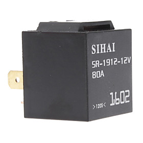 12V 80A 4-Pin Universal SPDT Automotive Flasher/Hazard Relay