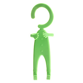 Creative Human Shaped Transformable Rubber Hanging Hook Rack (Random Color)