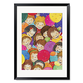 Printed Art Cartoon People Children 1301-0245