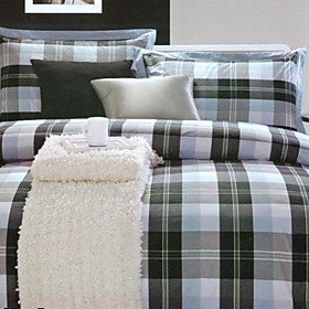 Toulouse Plaid Twin / Queen / King 3-Piece Duvet Cover Set