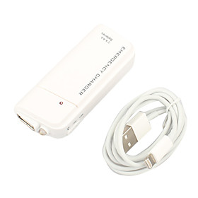 2 AA Emergency Charger Power Bank with LED Light and Lightning Cable for iPhone 5 and iPods