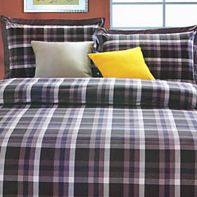 Lyon Plaid Twin / Queen / King 3-Piece Duvet Cover Set