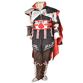Assassin's Creed Ezio Black Edition Black Cosplay Costume