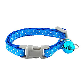 Snow Pattern Insert Button Collar with Little Bell for Dogs (Assorted Color)