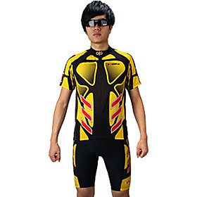 INBIKE Series 100%Ployester Short Sleeve Summer Man Cycling Jersey Suit with Silicone Pad QG023