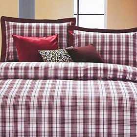Helsinki Plaid Twin / Queen / King 3-Piece Duvet Cover Set