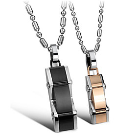 Stylish Stainless Steel Lovers' Necklace