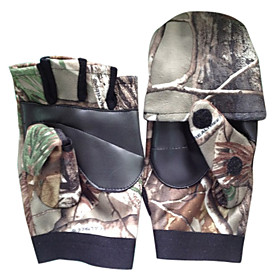 Camouflage Short Finger Warm Fishing Gloves