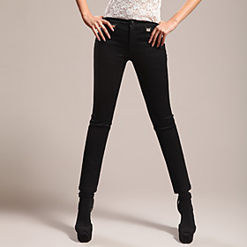 FUNSUNG Women's Black Skinny Jeans Pants
