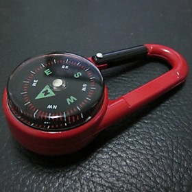Multifunctional Steel Carabiner with Compass And Thermometer