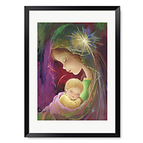 Printed Art Cartoon Mother and Child 1301-0330