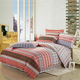 Check Pattern Full 4-Piece Duvet Cover Set