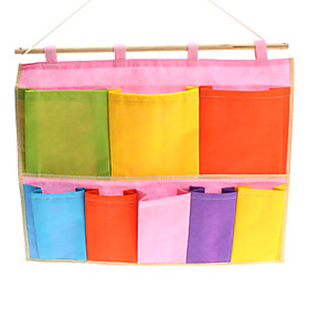 Colorful 8 Holes Hanging Storage Bag