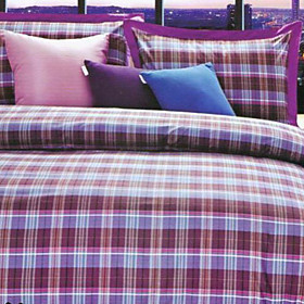 Marseille Plaid Twin / Queen / King 3-Piece Duvet Cover Set
