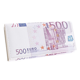 Creative 500 Euro Bill Pattern Long Wallet
