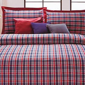 Zagreb Plaid Twin / Queen / King 3-Piece Duvet Cover Set