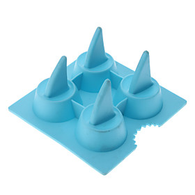 Funny Shark Fin Shaped Silicone Ice Trays DIY Mould