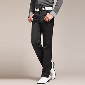 FUNSUNG Men's Casual Loose Solid Color Straight Pants