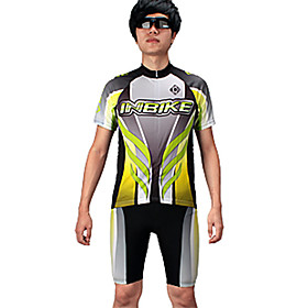 INBIKE Series 100%Ployester Material Short Sleeve Summer Man Cycling Jersey Suit with Silicone Pad QG024