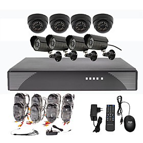 8CH CCTV DVR Kit For Home Security(4 Outdoor And 4 Indoor waterproof camera)